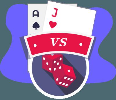 Blackjack Vs Craps Vergleich
