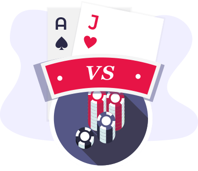 Blackjack vs Poker Vergleich