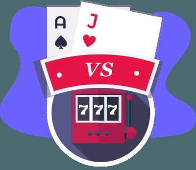 Blackjack vs Slots Vergleich